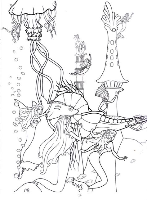 barbie coloring pages barbie mermaid