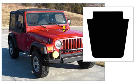 blackout jeep wrangler graphic express 1997 06 jeep wrangler tj blackout decal