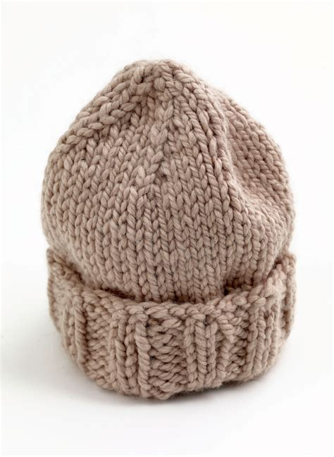 knit hat pattern thick yarn eagle bay hat in lion brand wool ease thick quick