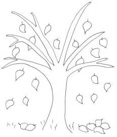 kleurplaat kale boom