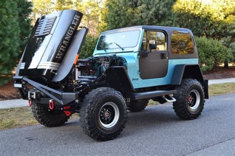 meticulously modified classic 1990 jeep wrangler yj v8