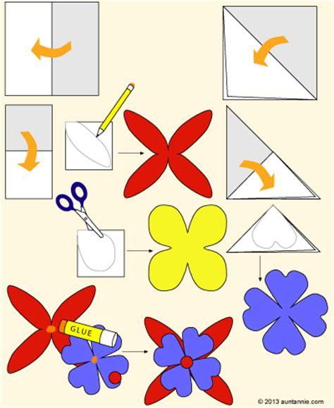 How To Make Colored Paper Flowers - 綷 綷 綷綷 寘 綷綷