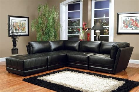 Black Leather Sofa Sectional by Kayson Bonded Leather Black Sectional