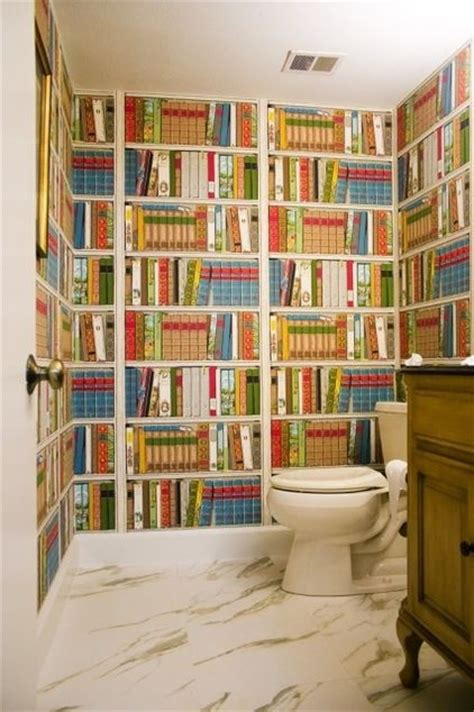 Reading In The Tub In The Bookcase by Bathroom Bookcase Wallpaper Bathroom Wallpapers