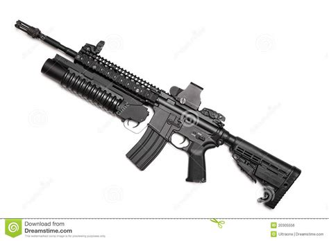 Us Navy Seals M4 Carbine Series 6 Cutting Sticker us spec ops m4a1 assault rifle stock photo image 20305556