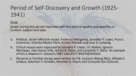 Self Discovery Essay Conclusion by Philippines And Philippine Literature In