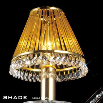 table l shade with crystal droplets torino 5 light in gold with crystal droplets diyas il30325