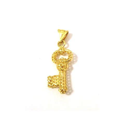 ciondoli porta fortuna ciondolo chiave portafortuna in oro giallo 18 kt collana