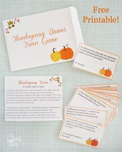 printable thanksgiving trivia cards free printable thanksgiving trivia celebrate