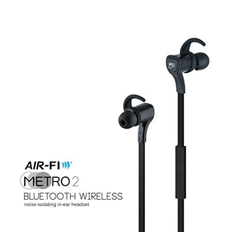 meelectronics air fi metro2 af72 bluetooth wireless noise isolating in ear stereo headset