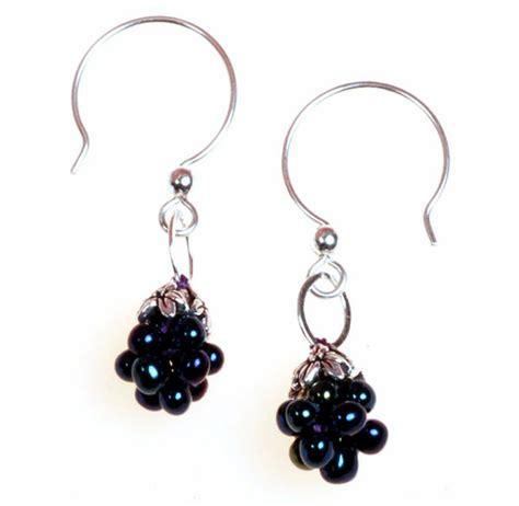 beading earrings blackberry drop bead earrings