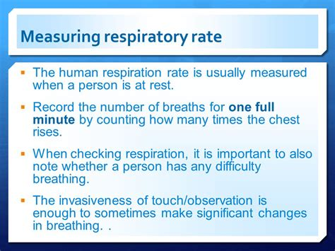 respiratory rate of temperature ppt