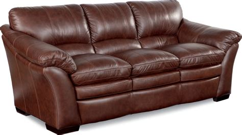 cherry brown leather sofa la z boy burton leather sofa reviews wayfair