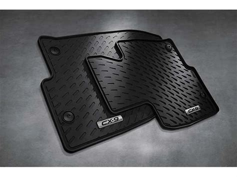 2016 2017 mazda cx 9 front all weather rubber floor mats