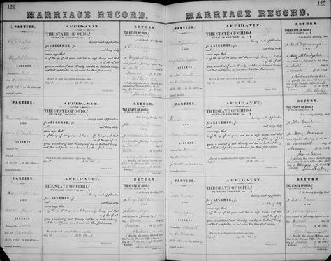 Ohio State Marriage Records Genealogy Data Page 22 Notes Pages