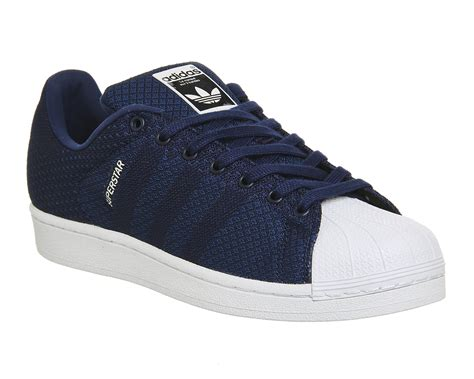 Adidas Blue List White mens adidas superstar 2 blue white weave pack