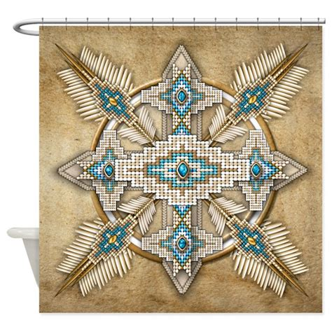native american curtains native american style mandala 29 shower curtain by