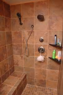 there walk shower without doors with wall mount showerhead the basement bathroom great for kids and guests