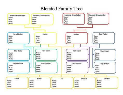 free family tree printable template genogram template free premium templates