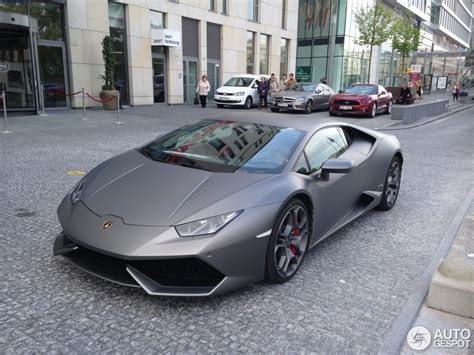 grey lamborghini huracan lamborghini hurac 225 n lp610 4 19 april 2016 autogespot
