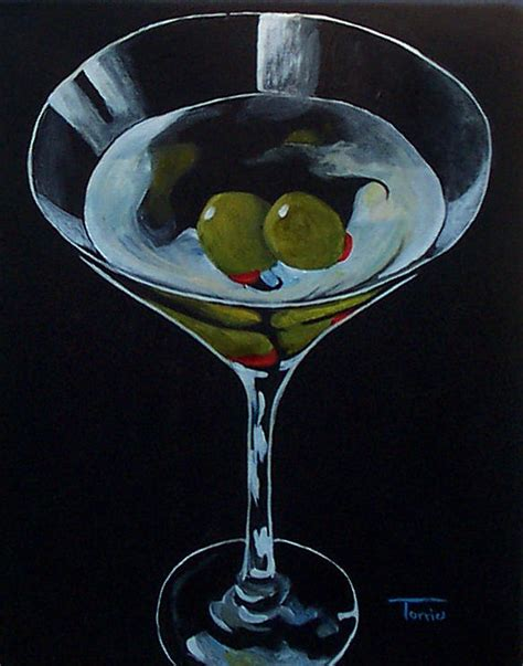 martini painting two olive martini painting by torrie smiley
