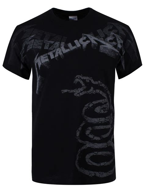 Metallica Black T Shirt metallica black album faded mens t shirt new official ebay