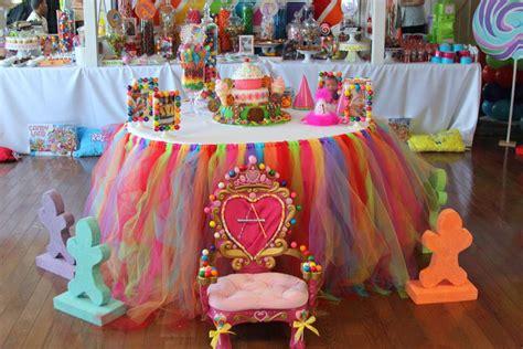 Candyland Table Decorations land sweet shoppe birthday ideas photo 16 of