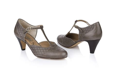 mabel leather t bar shoes by agnes norman