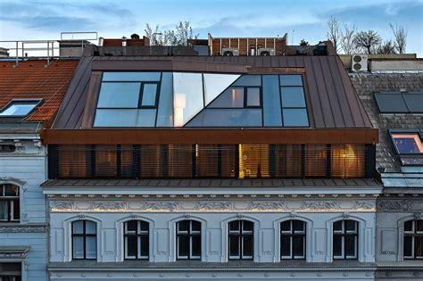 tetto terrazza il nuovo tetto rivestito in rame composto da due