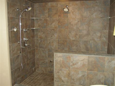 comfortable bathroom shower designs without doors with walk in tiled with stainless shower and