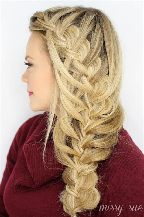 easy cascading braids hairstyles easy waterfall braid hairstyle tutorial rachael edwards