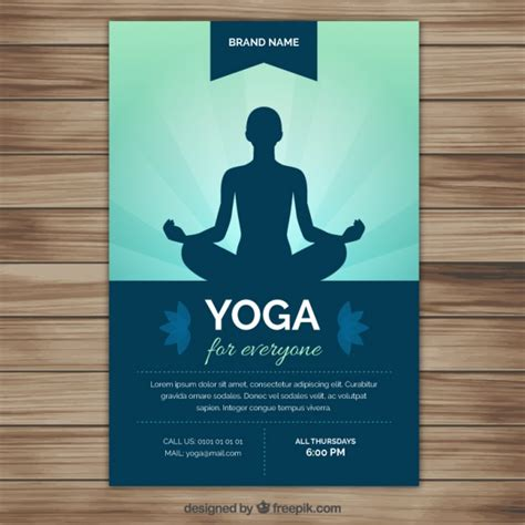 flyer template yoga yoga silhouette flyer vector free download