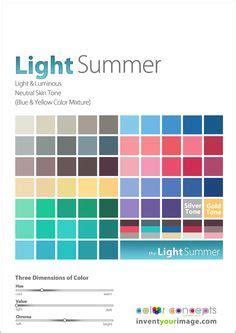 Light Summer Color Palette by Light Summer Seasonal Color Type On Light