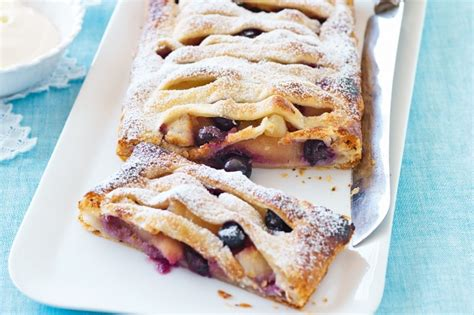 Jalousie Pastry by Apple And Blueberry Jalousie Recipe Taste Au