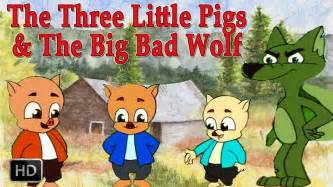 pigs big bad wolf hd animated fairy tales children story