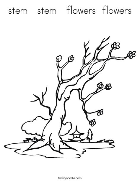 tree stem coloring page stem stem flowers flowers coloring page twisty noodle
