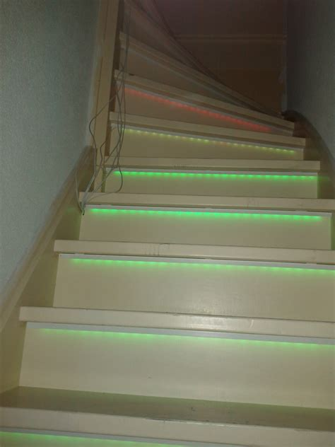 led lights for stairs rgb stair lighting an arduino uno and ti tlc5940m