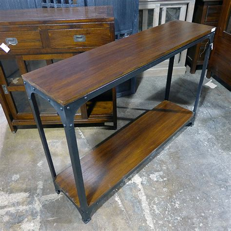 iron and wood console table iron and wood console table nadeau chicago