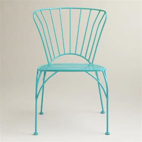 World Market Metal Chairs by Peacock Blue Metal Cadiz Chairs Set Of 2 World Market