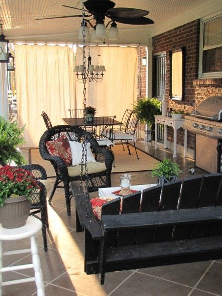 Drop Cloth Curtains For Patio by Back Patio Reveal Drop Cloth Curtains And