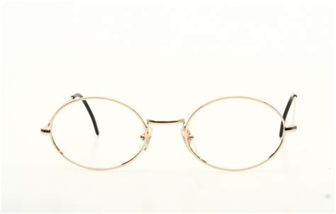 classic oval eyeglasses 42 20mm in shiny golden with