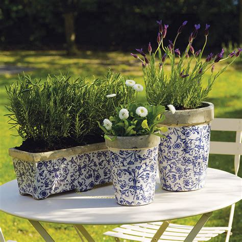 Garden Plant Pots Aged Ceramic Garden Planter Or Plant Pot By The Orchard