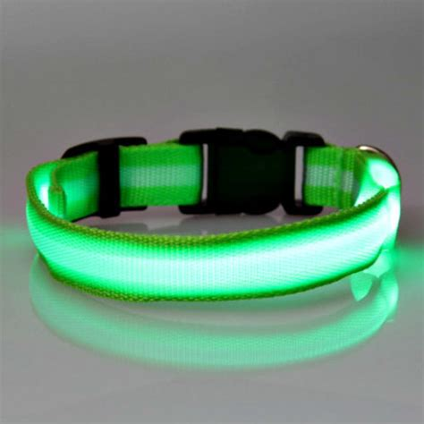 led collar light led glowing collars it easier to spot fido in the