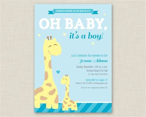 baby shower invitations for boys free templates