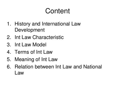 historic meaning history and meaning of international law
