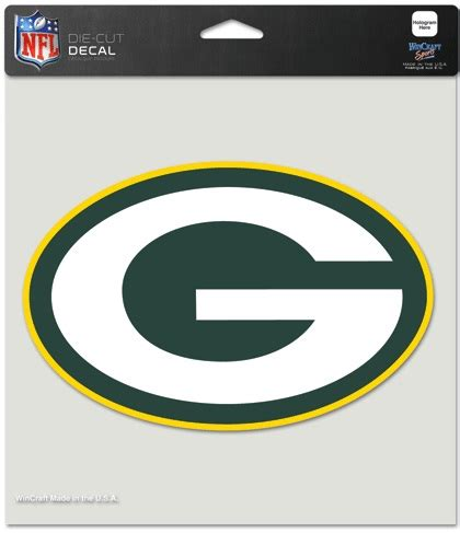 packers colors green bay packers color die cut 8 quot x 8 quot decal