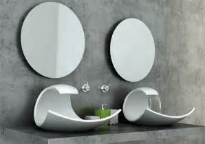 Unique Bathroom Sinks Ideas Stylish And Beautiful White Sink In Oceanic Wave Form Eaux Eaux Home Building Furniture