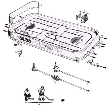 table l parts diagram stiga parts diagram table hockey shop