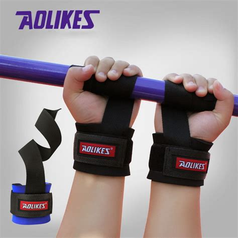 Wrist Band Lifting Support Fitness Tali Beban aolikes 1pair weight lifting wristband fitness wrist support wrap with power band