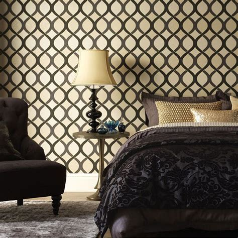 Moroccan Bedrooms Ideas Photos 20 trendy bedrooms with geometric wallpaper designs